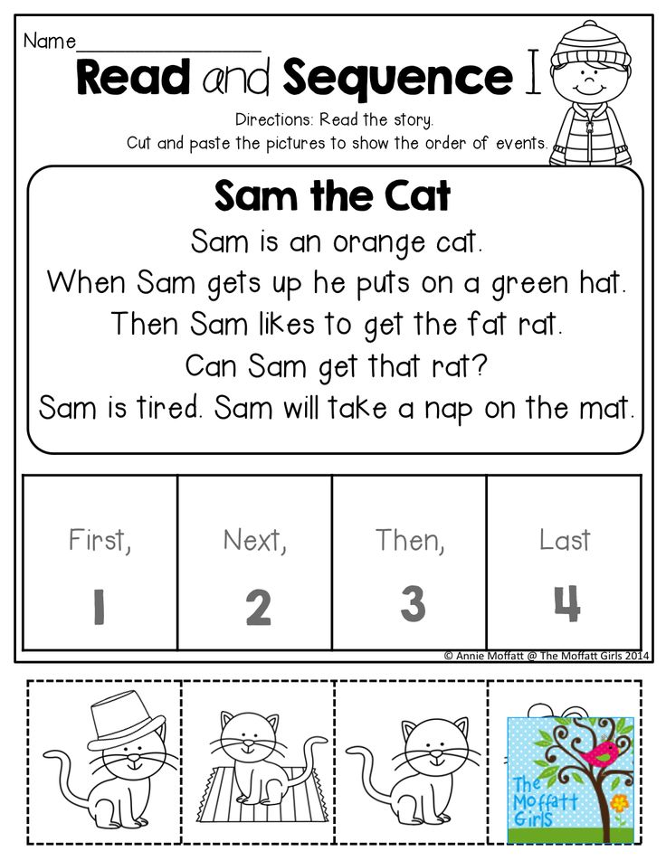 Sequential Order Worksheets Kindergarten