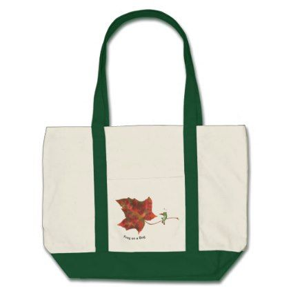 Frog on a Bag - large tote funny cute frogs design  $28.05  by ArtyGifts  - custom gift idea