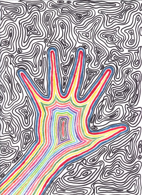 Easy Trippy Drawings Trippy by xxxlittleghostxxx