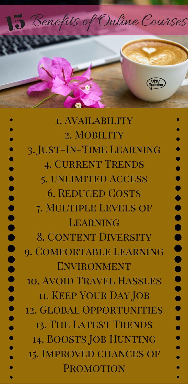 15 benefits of Online Courses