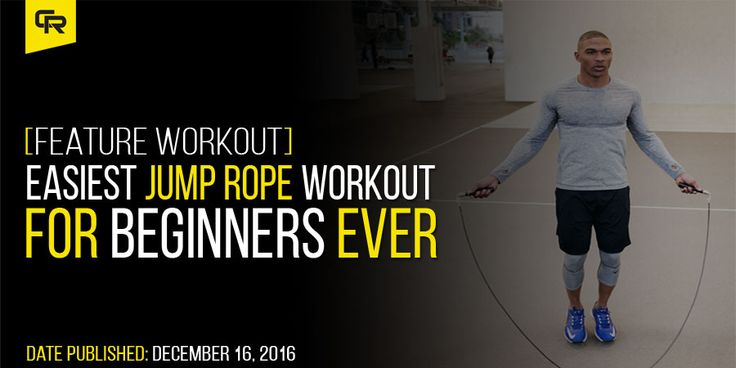 Are you just getting started with your jump rope training? Then this is the easiest (heavy) jump rope workout for beginngers that you can do. Full details inside.