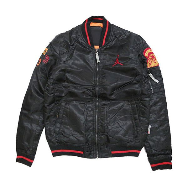 Jordan Jacket (430 RON) ❤ liked on Polyvore featuring men's fashion, men's clothing, men's outerwear and men's jackets