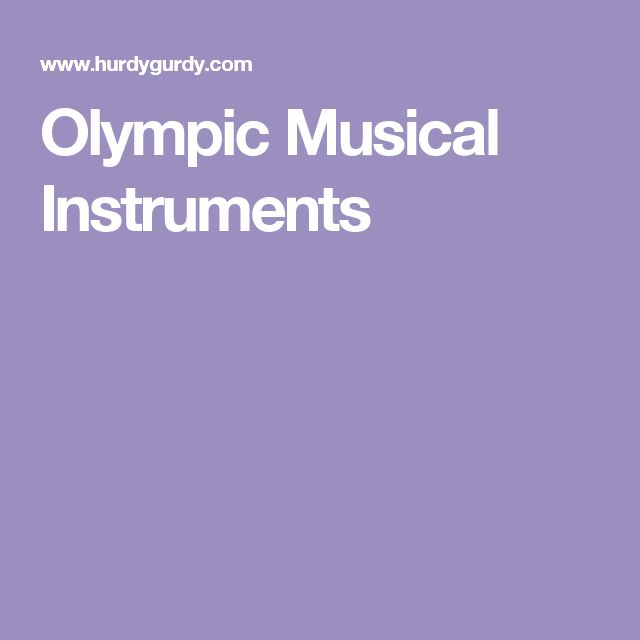 Olympic Musical Instruments