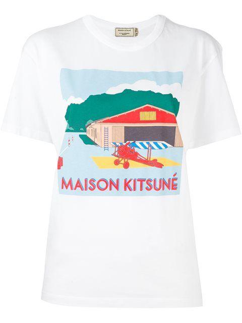 MAISON KITSUNÉ hangar print T-shirt. #maisonkitsuné #cloth #t-shirt