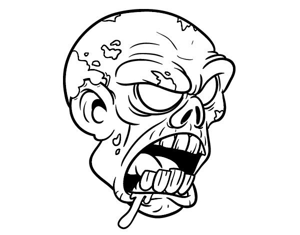 Scary Zombie Coloring Pages Printable Halloween And