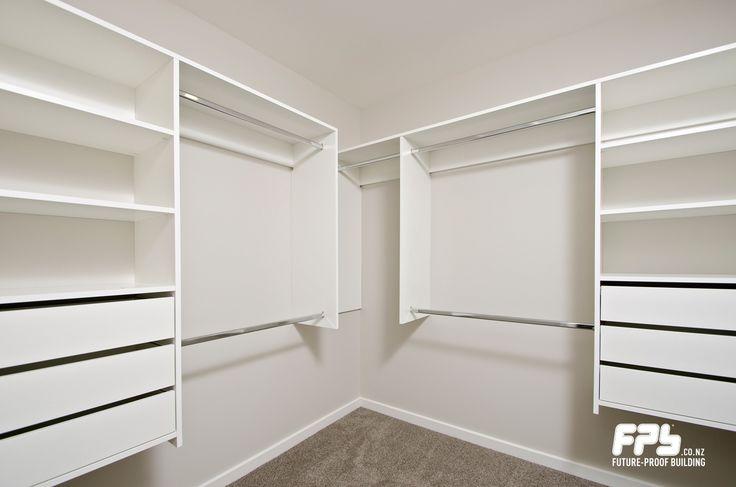 Wardrobe organiser in master bedroom.
