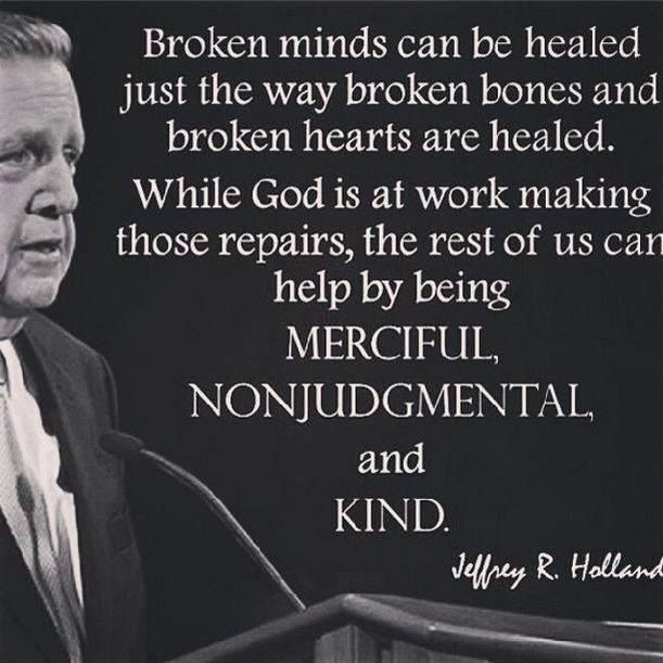 Be merciful and nonjudgmental. Lds quote. Healed www.TheCulturalHall.com