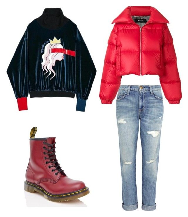 """Untitled #135"" by dariatamasan on Polyvore featuring Current/Elliott, Dr. Martens and MISBHV"