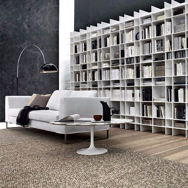 'Float' shelving system by Modulnova  Open, minimalist & structured, living organisation and display has never looked so good.     Exclusively available in Australia & NZ via Modulnova Sydney Studio. A stunning range of design options are available - link in bio.