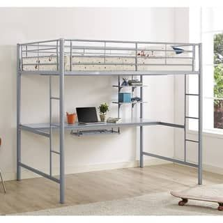 Shop for Silver Metal Full Loft Bed with Desk. Get free delivery at Overstock.com - Your Online Furniture Outlet Store! Get 5% in rewards with Club O! - 19428801