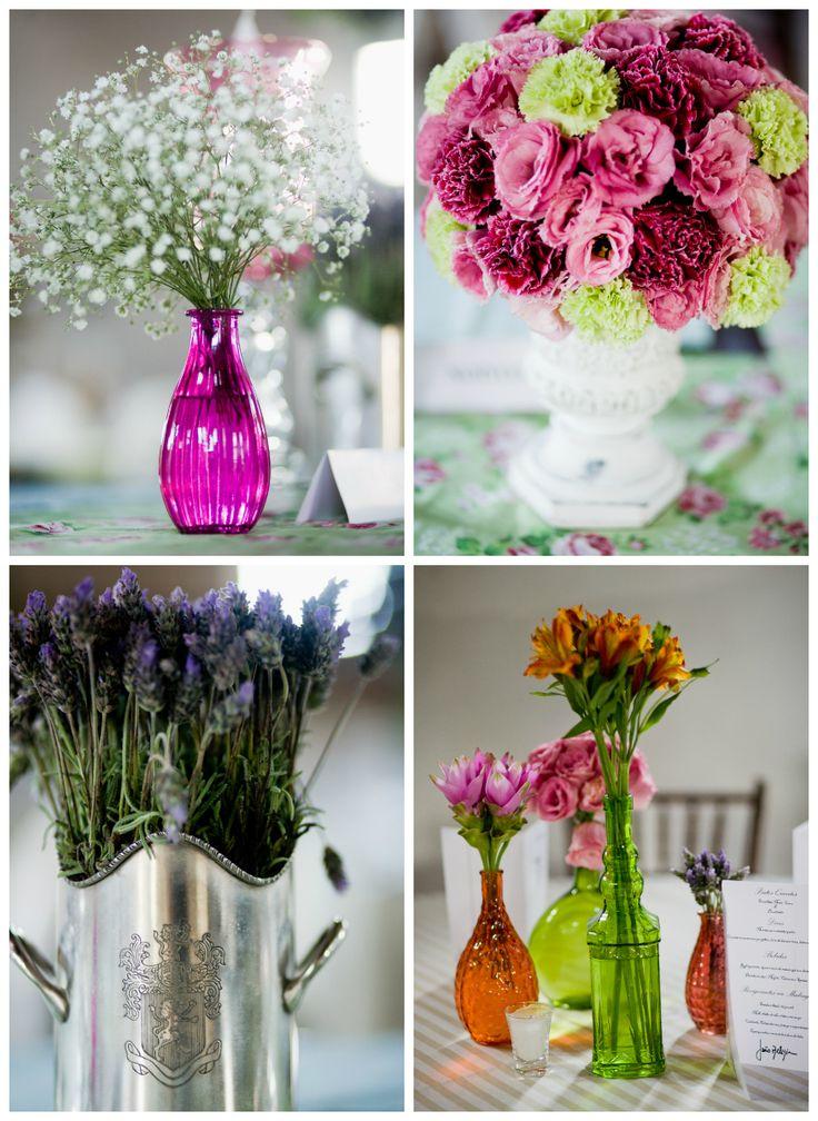 Arranjos de flores coloridos para casamento  Flowers  Lavanda  Flor