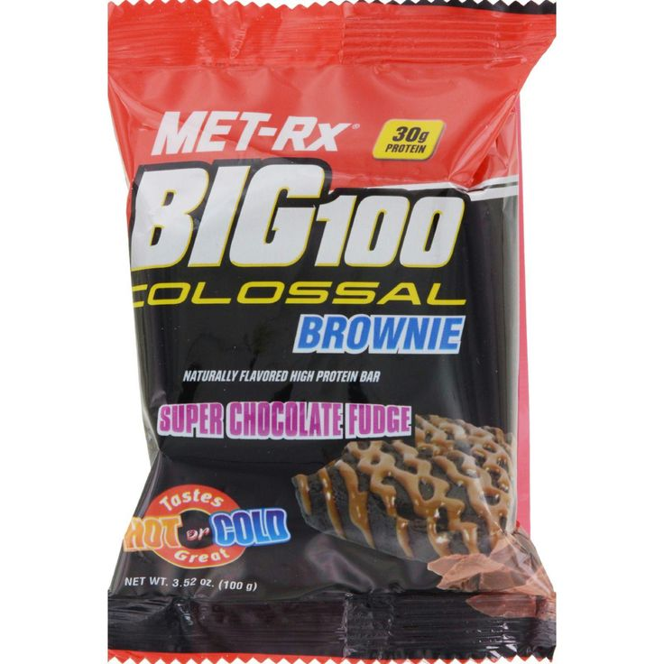 Met-Rx Meal Replacement Bar - Big 100 Colossal Brownie - Super Chocolate Fudge - 3.52 oz - Case of 9