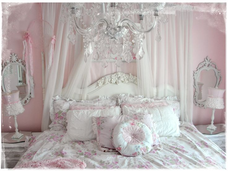 Decoration Beautiful Shabby Chic Bedding Style With White Cover Master Bed Custom Headboard Under Antique Gl Chandelier