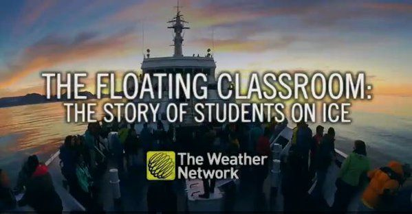 Imagine if your classroom was a ship and your schoolyard was the #Arctic @StudentsOnIce @WeatherNetwork The Weather Network to launch 5-part series on SOI beginning Nov 16! Tune in to watch or see all episodes online at Http://www.weathernetwork.com/floatingclassroom
