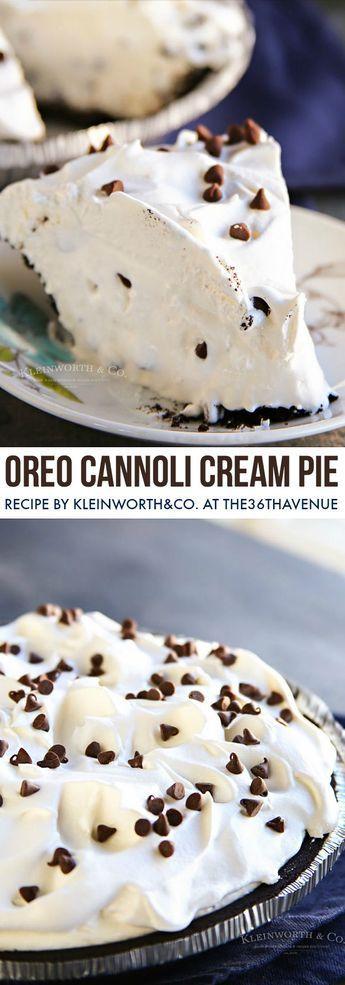 Einfache Oreo Cannoli Cream Pie – Pies – #Cannoli #Cream #Einfach #OREO #Pie …   – Torten Rezepte Deutschland