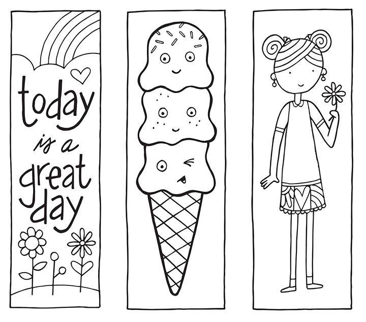 Free Printable Coloring Page Bookmarks 637 Best Images On Pinterest