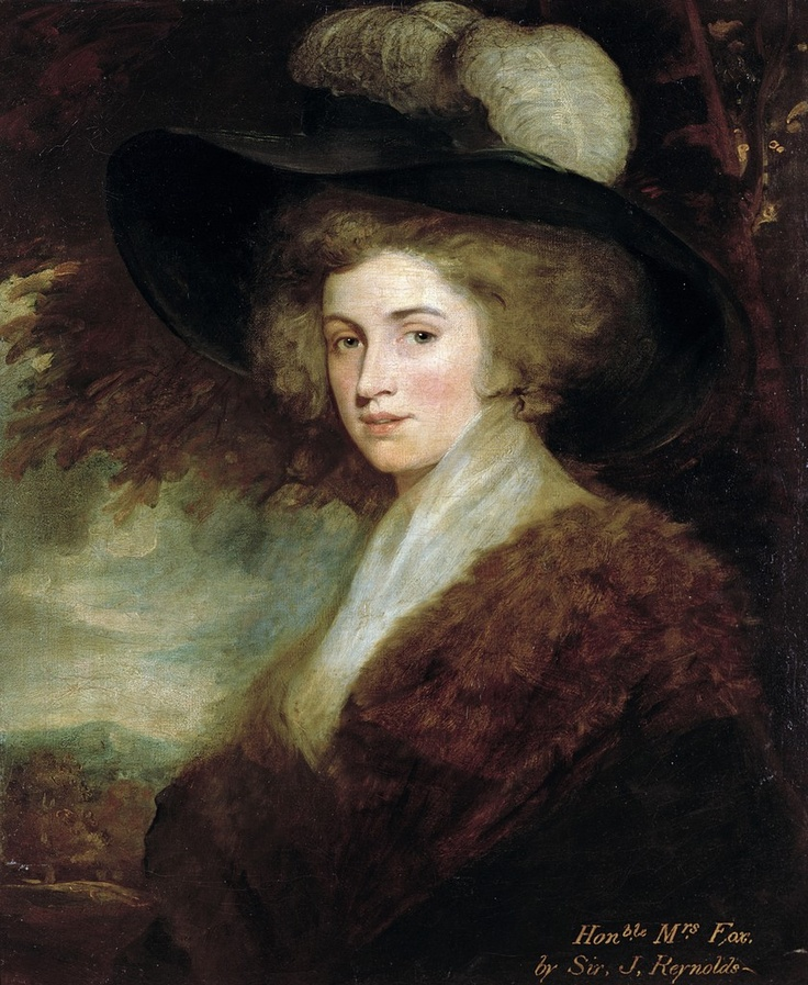 Portrait of Mrs. Charles James Fox (18th century) - Joshua Reynolds