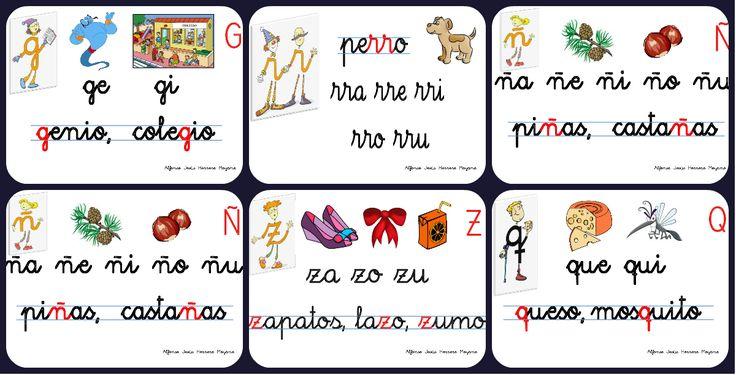 Con la idea de recordar las letras aprendidas en Infantil o en 1º E.P., os dejo unos carteles divertidos y didácticos, creados sobre las letras del país del mismo nombre (Letrilandia). En ellos aparecen...