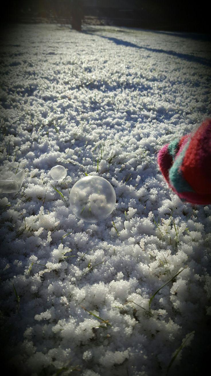 Såpbubblor i minusgrader