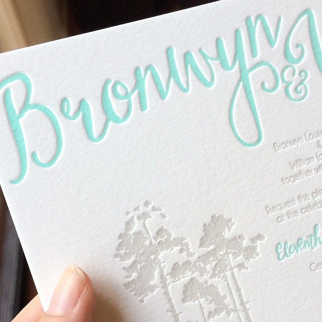 Here's a sneak peek at a beautiful wedding invitation I designed and printed for Bronwyn and William's big day! - The Letterpress Studio