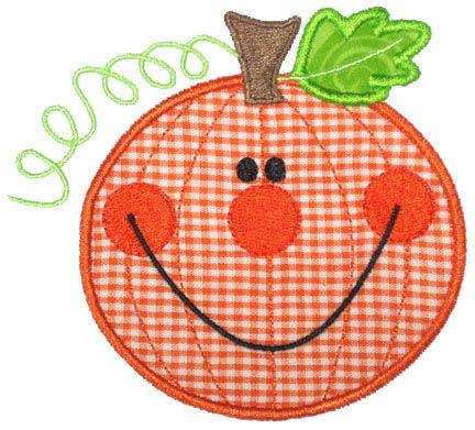 Applique Only :: Happy Pumpkin Applique - Embroidery Boutique
