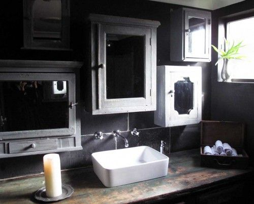 Sharp Charcoal Grey Bathroom Listed Accessories