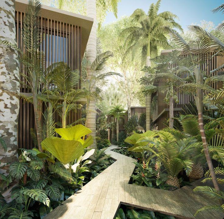 triptyque architecture's tempo villas to be integrated into brazilian rainforest