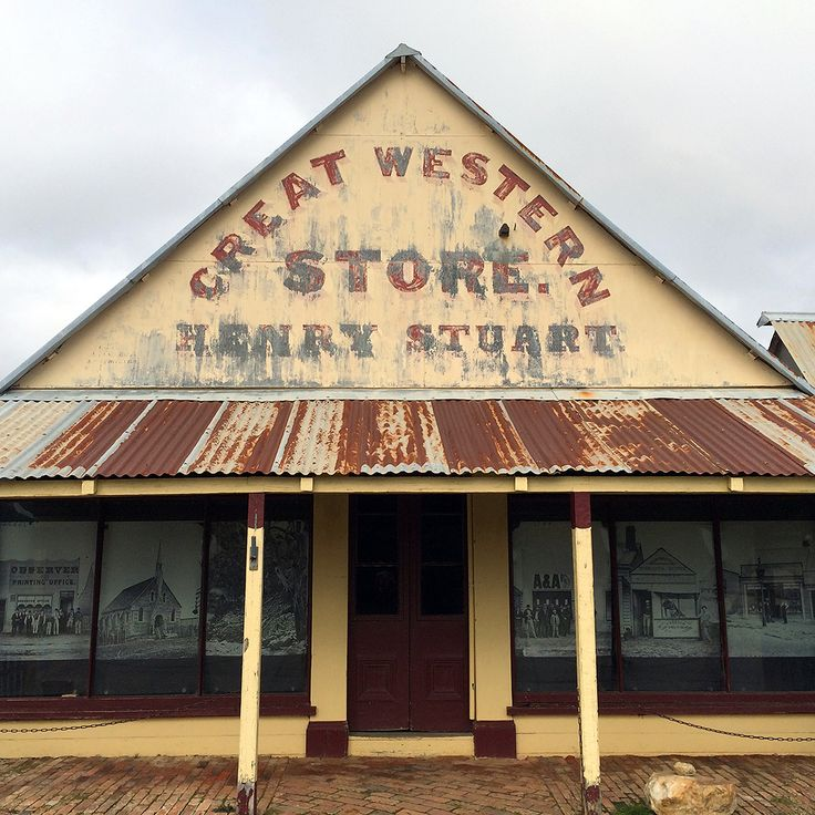 old building at Hill End, NSW