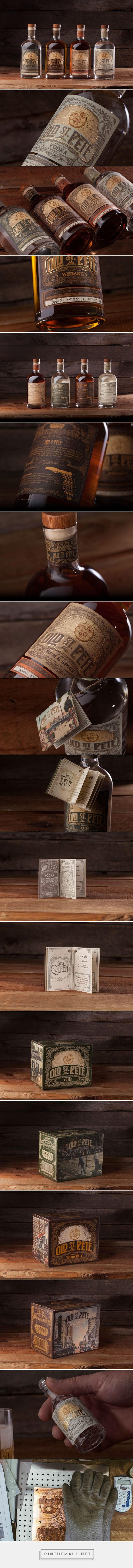 Old St. Pete Craft Spirits Packaging designed by Dunn&Co.​ - http://www.packagingoftheworld.com/2015/11/old-st-pete-craft-spirits.html