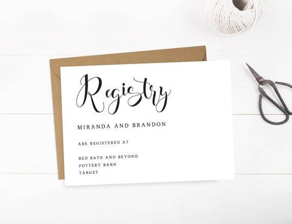 Baby Registry Announcement Cards Template Inspirational Wedding Registry Cards Baby Registr Wedding Registry Cards Card Templates Printable Baby Registry Cards