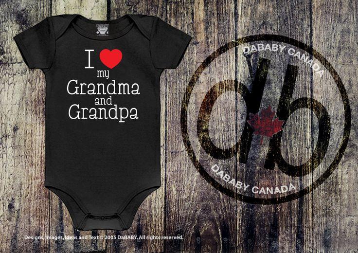 #etsy shop: Grandma and Grandpa Bodysuit, I love my Grandma & Grandpa Tee, Hospital Take Home Outfit http://etsy.me/2CjupoC #clothing #children #baby #babykeepsakegift #grandmaandgrandpa #grandmabodysuit #grandpabodysuit #newbornbabygift #babyshowergift