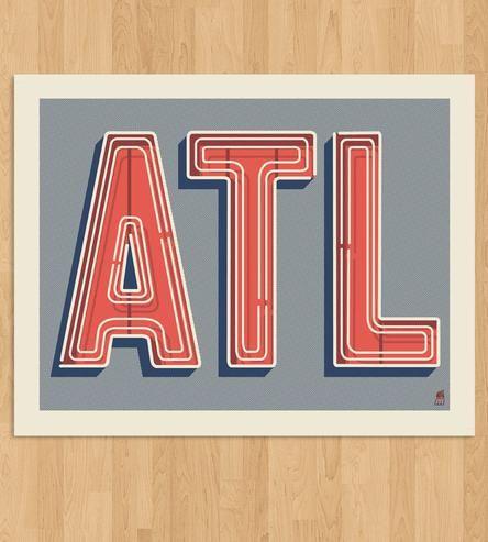 Atlanta Art Print   Art Prints & Posters   Methane Studios   Scoutmob Shoppe   Product Detail