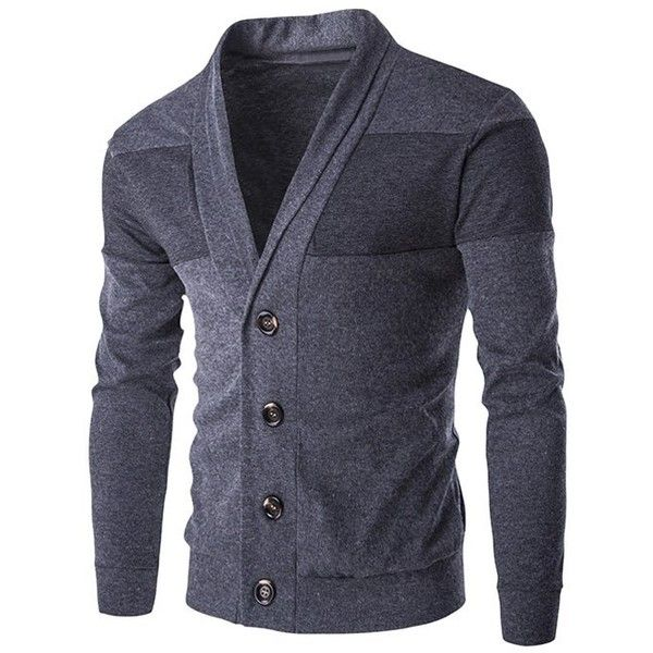 Slim Fit Shawl Collar Button Up Cardigan (68 BRL) ❤ liked on Polyvore featuring men's fashion, men's clothing, men's sweaters, mens button down cardigan sweaters, mens shawl collar sweater, mens shawl collar cardigan sweater, mens slim fit sweater and mens button up sweater