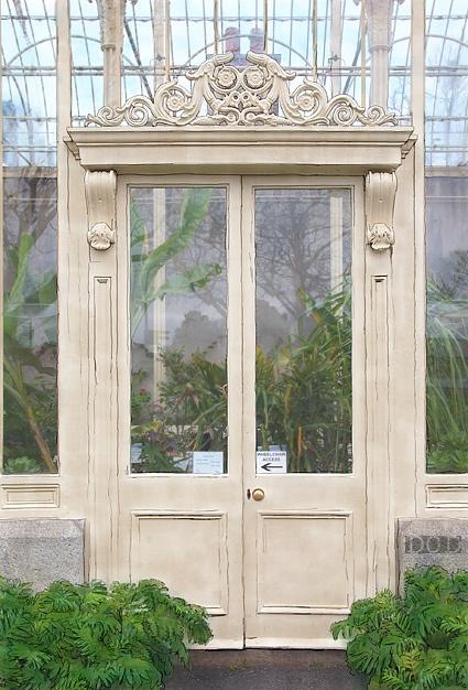 Botanic Door: Pens And Wash, Greenhouses Doors, Entry Doors, Gardens Doors, Botanical Doors, Victorian Doorway, National Botanical, Dublin Botanical, Botanical Gardens
