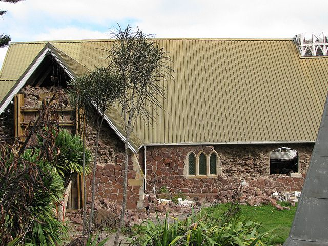 Holy Trinity Anglican Church - Lyttelton 10 April 2011 - demolished totally in the June 2011 quake | Flickr - Photo Sharing!