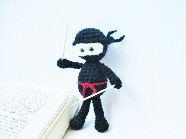 Pattern, Tutorial, Amigurumi Crochet Black Ninja Pattern, Crochet Pattern, Instant download by AllSoCute on Etsy https://www.etsy.com/listing/193473032/pattern-tutorial-amigurumi-crochet-black
