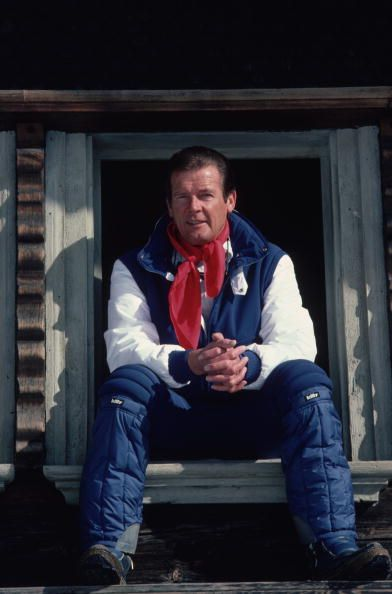 Roger Moore In Gstaad Slim Aarons February 1977 Actor