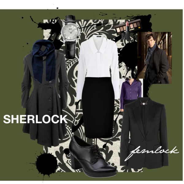 """""""femlock - ladies BBC Sherlock cosplay"""" Not the shoes, the shoes suck. But LOVE the coat!"""
