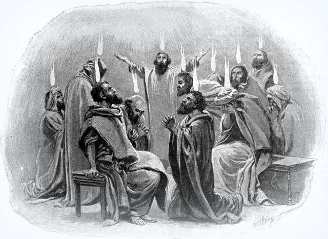 Understanding the Feast of Pentecost in the Bible: The apostles receive the gift of tongues (Acts 2).