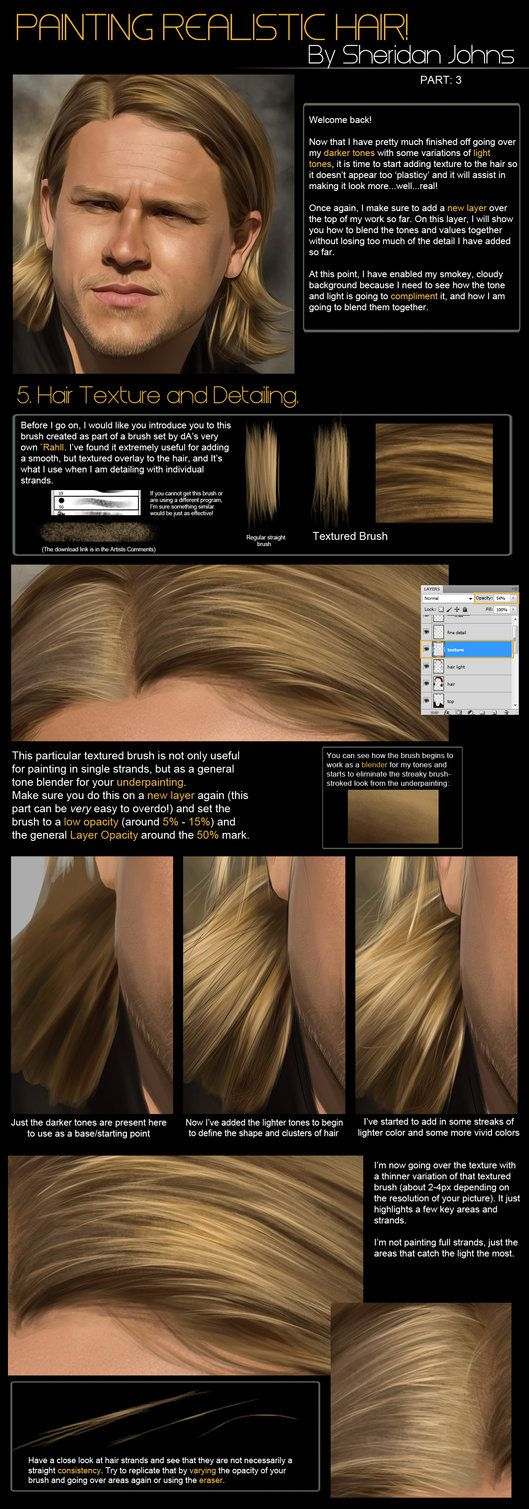Painting Hair -Part 3: Texture by Sheridan-J on deviantART