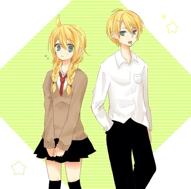 In the school | Kagamine twin | Vocaloid, Anime và Lens