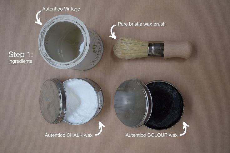 Autentico Quick-fix step 1. An easy way to make a beautiful patina.