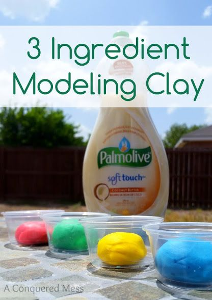 Easy silky smooth DIY Modeling Clay made with Palmolive dish soap| #science #sensoryplay #kidsactivities #ad #shop #cbias #Palmolive25Ways | @AConqueredMess
