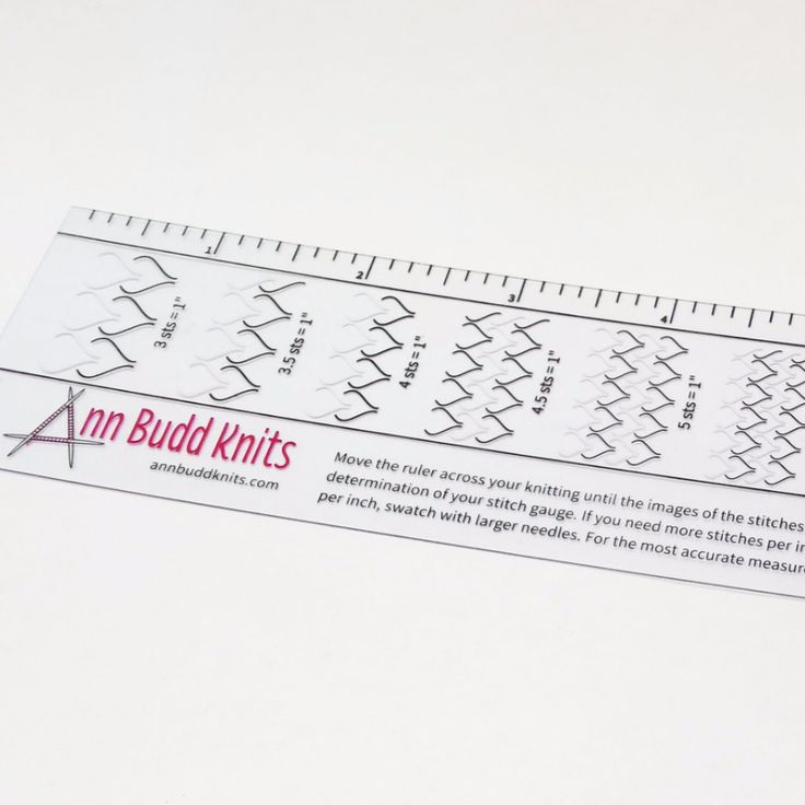 Ann Budd Knits Stitch Gauge Ruler, ready to ship, Best Seller Knit stitches...