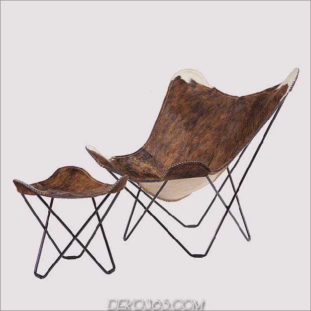 Cuero Stellt Vier Versionen Des Butterfly Chair Her Schmetterling Stuhl Kreativ Und Stahlrahmen