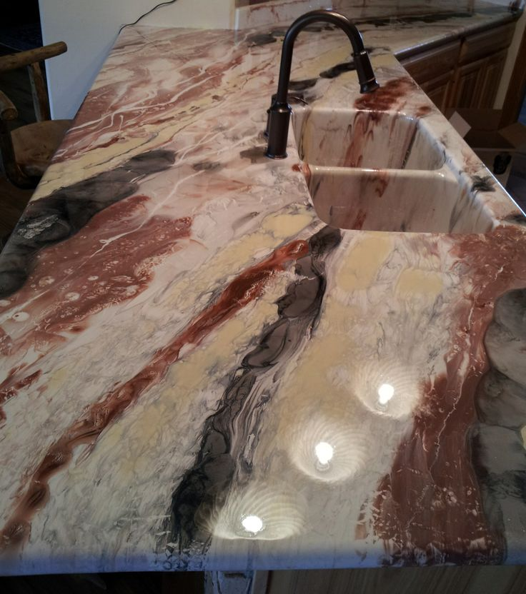 DIY Bar Top Epoxy This was an epoxy counter top I helped to do. IT ...