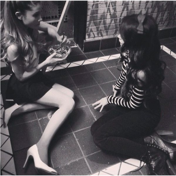 Ariana Grande Camila Cabello BFFs! ❤ liked on Polyvore featuring ariana, ariana grande, camila, other and camila cabello