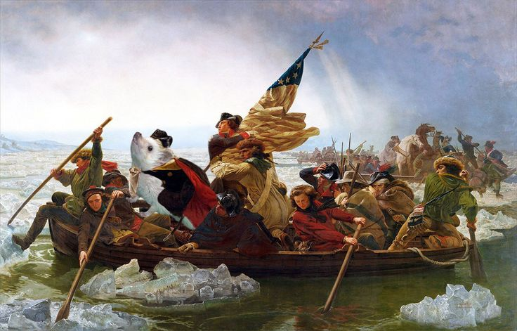 Leutze's hedgehog crossing the Delaware is a high point of 1850s art – truly remarkable artistic composition