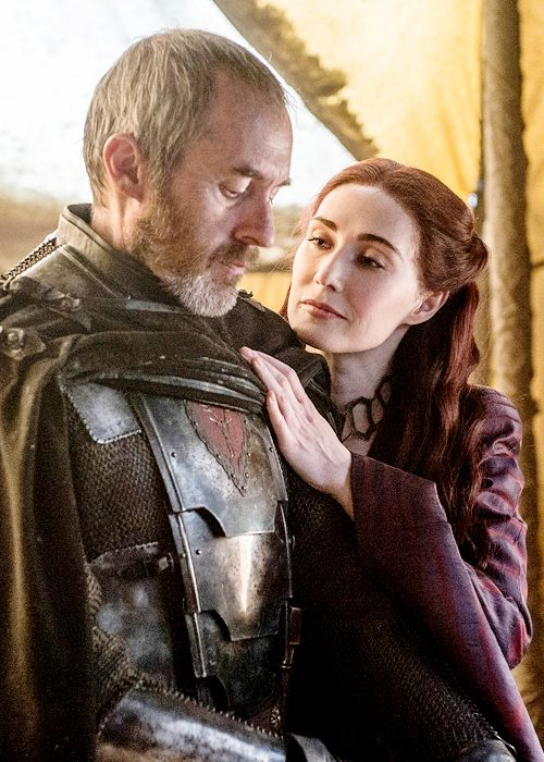 gameofthronesdaily:   Stannis Baratheon & Melisandre in Game of Thrones season 5 episode 10 (x)