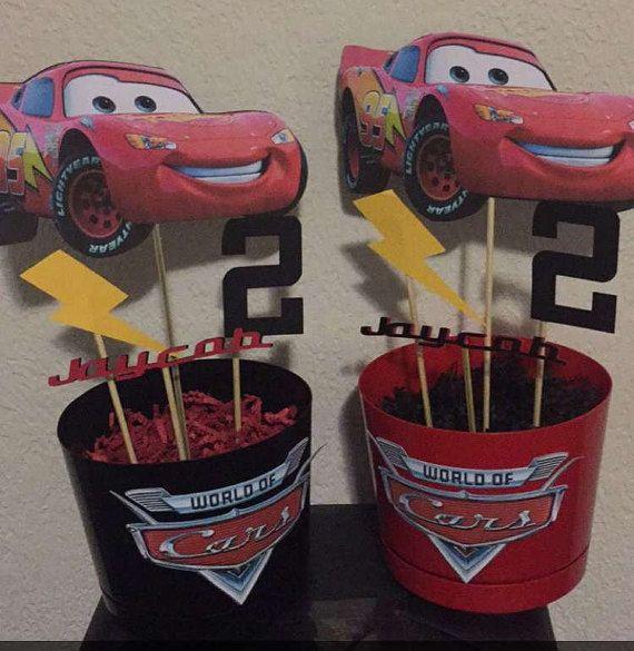 Disney Cars Centerpieces by CarmsCraftRoom on Etsy